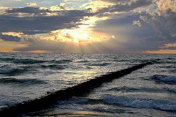 Ostsee  im  Abendlicht van Ursula Reins