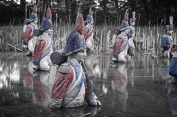 Soldaten te water van Mark Bolijn