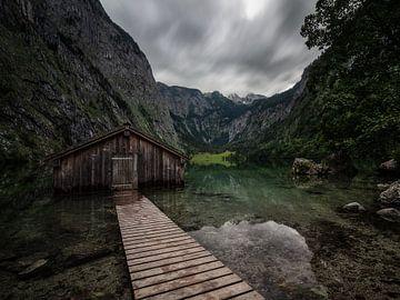 Wolken boven de Obersee van Thomas Weber