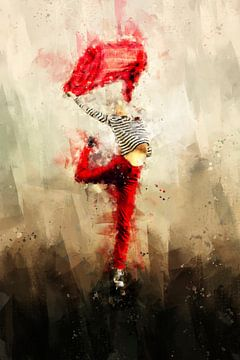 Meisje dat danst in de wind van Peter Roder