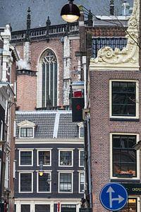 Amsterdam Centrum, doolhof van gebouwen en straatmeubilair