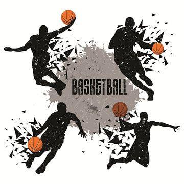 basketbal, daar gaat deze poster oer van Atelier Liesjes