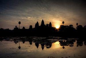De zonsopgang bij Angkor Wat van