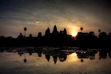 De zonsopgang bij Angkor Wat van Marie-Lise Van Wassenhove