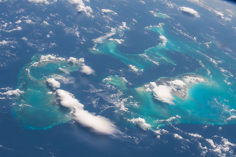 De Bahama's vanuit de ruimte van Moondancer .