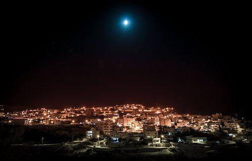 Wadi Musa by moonlight