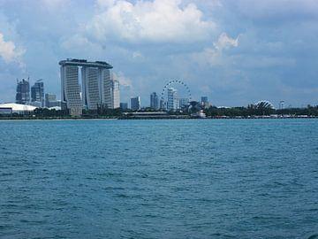Uitzicht over Singapoer van Atelier Liesjes