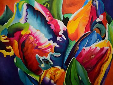 "Abstract art tulpen von Janny Schilderink......Atelier ""de Tuute """