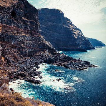 Wilde kust - Tijarafe, La Palma, Canarische Eilanden van Dirk Wüstenhagen