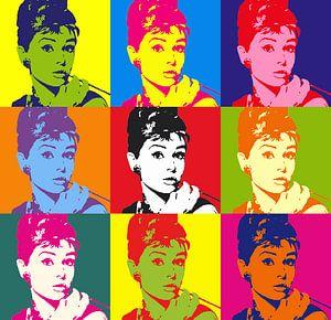 Popart - Audrey Hepburn van