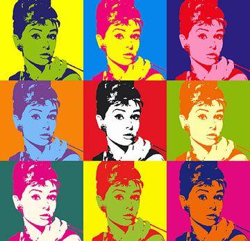 Popart - Audrey Hepburn van Laurance Didden
