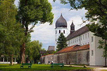 Klosterkirche auf der Fraueninsel, Chiemsee, Bayern von Jan Schuler
