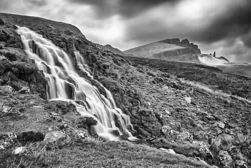 Waterval in Schotse bergen van