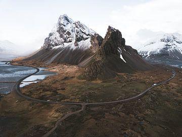 Isländische Ringstraße um das Eystrahorn von Michiel Dros