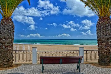 Portugal Algarve Praia da Luz strandpromenade van Iris Heuer