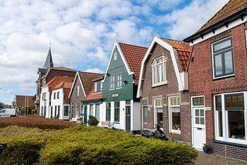 Texelse huisjes in Oudeschild van Maurice De Vries