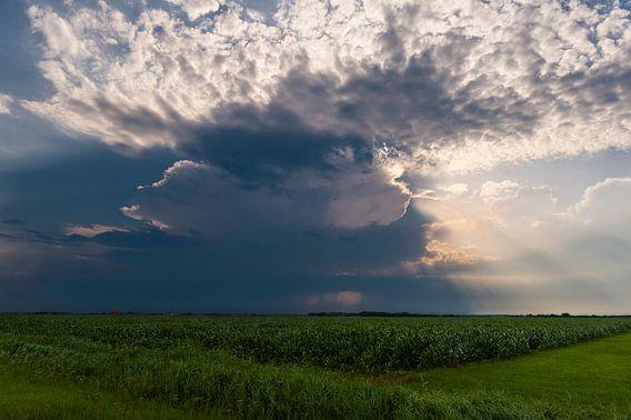 Onweer over het landschap