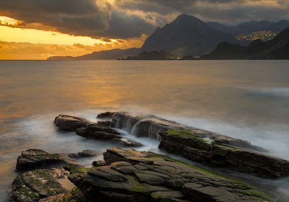 Badouzi park aan de noord kust van Taiwan. van Jos Pannekoek
