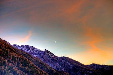 Der Mond über dem Hintersee von Roith Fotografie
