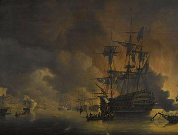 De brand op de werven van Algiers