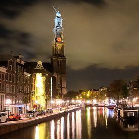 Westerkerk - Prinsengracht - Amsterdam van Wiljo van Essen