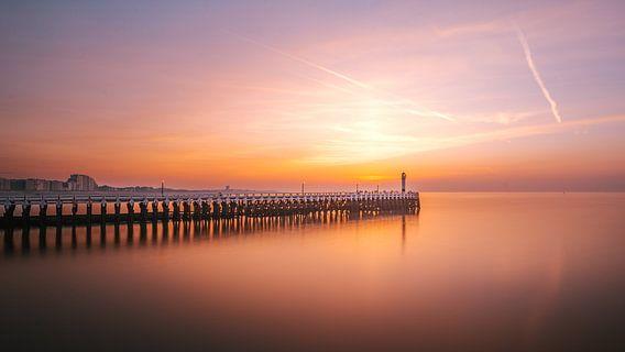 Sunset at the Nieuwpoort Pier