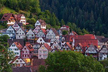 Fachwerkhäuser in Schiltach, Baden-Württemberg, Deutschland von Henk Meijer Photography
