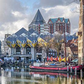Kubuswoningen en Oude Haven van Frans Blok