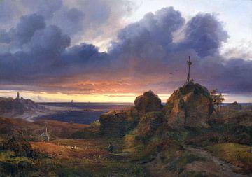 Abendliche Sicht auf den Kattegat bei Kullen, LOUIS GURLITT, 1838