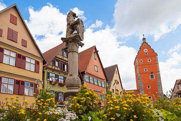 Dinkelsbühl Löwenbrunnen von Jan Schuler