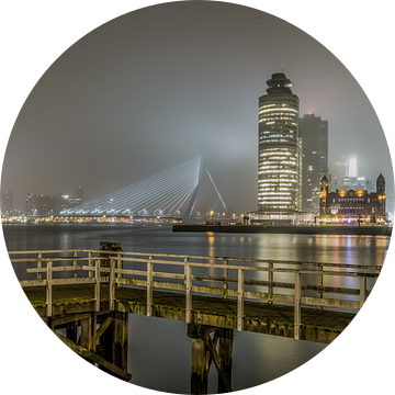 De mistige skyline van Rotterdam van MS Fotografie | Marc van der Stelt