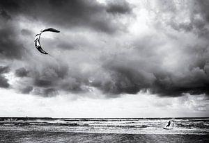 De kitesurfer
