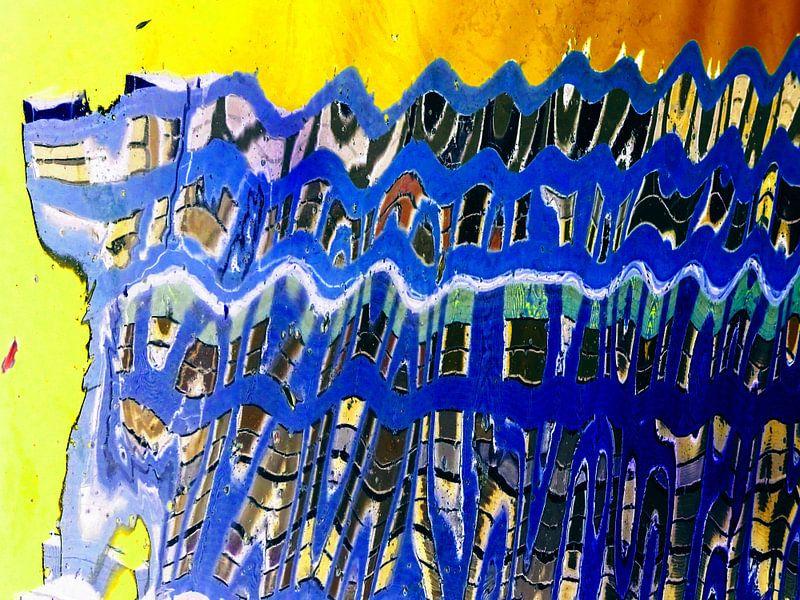Urban Painting 103 - Blauw! van MoArt (Maurice Heuts)