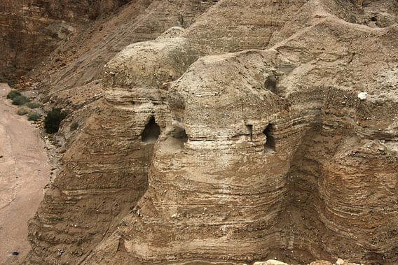 De oude invasie van Qumran op de dode zeeQumran is de ruïnes van een nederzetting van oude Joden - a