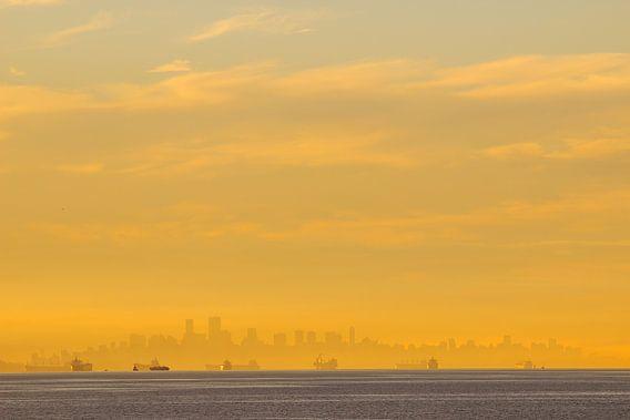 Zonsopkomst Vancouver skyline