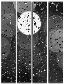 regendruppels op het raam von Joke te Grotenhuis