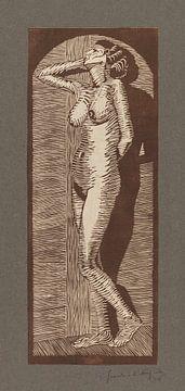 Vrouwelijk naakt staand, Samuel Jessurun de Mesquita (1914) van Atelier Liesjes