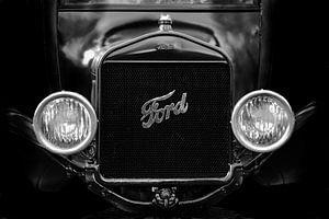 Zwartwit Ford van