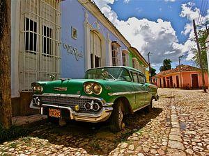 Oldtimer in Cuba van Iduna vanwoerkom
