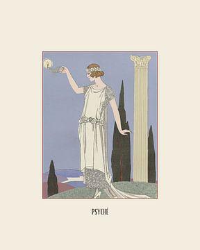 Psyché - Godin, Griekenland,  Art Deco Fashion print van NOONY