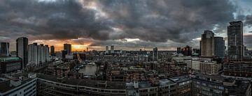 Panorama rotterdam van Rob van de Graaf