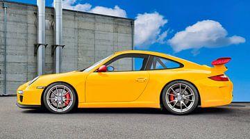 Porsche 911 GT3 Type 997 in origineel geel