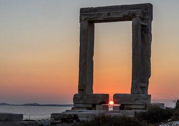 Naxos Zonsondergang van Mario Calma