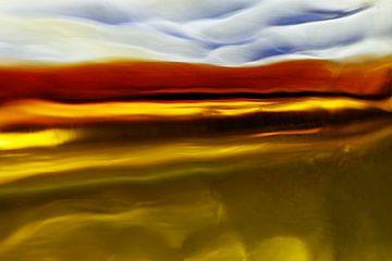 Landschap-fantasie  (nr. 3 ) van Wim Bodewes