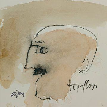 Fred, portret, avatar von Leo de Jong