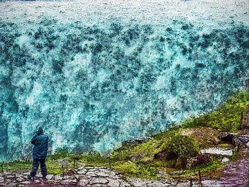 IJsland: Detifoss in de regen van Frans Blok