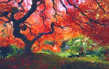 Herbstwald von Angel Estevez