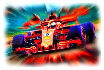 Sebastian Vettel #5 anno 2018 van Jean-Louis Glineur alias DeVerviers