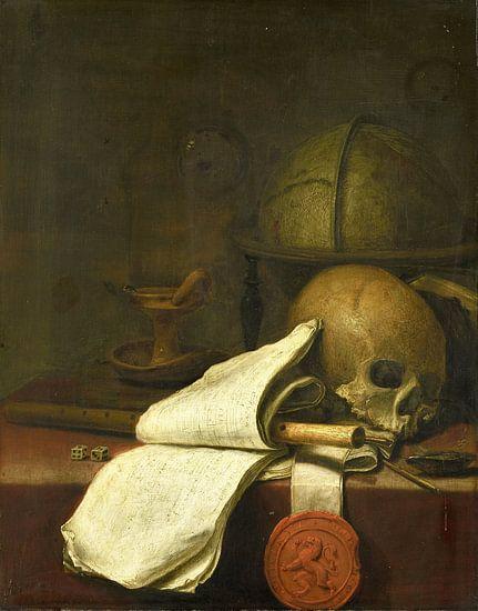 Vanitas stilleven, Pieter Symonsz. Potter, 1646 van Meesterlijcke Meesters