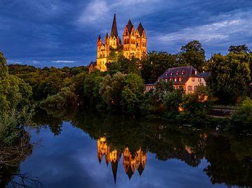 Avond in Limburg ad Lahn, Duitsland van Adelheid Smitt